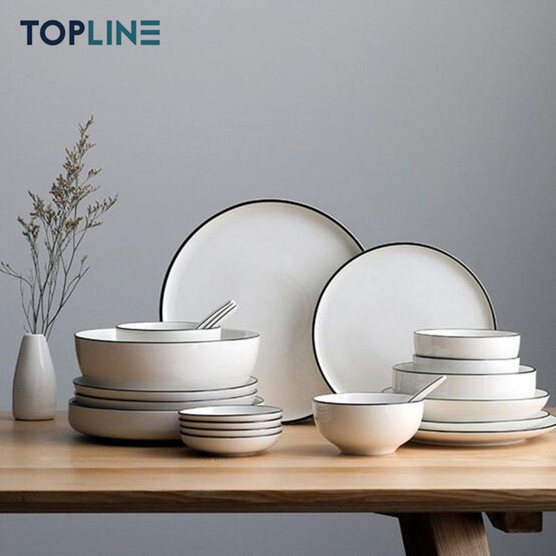 PLSDI001 white luxury dinner porcelain ceramic plates sets dinnerware