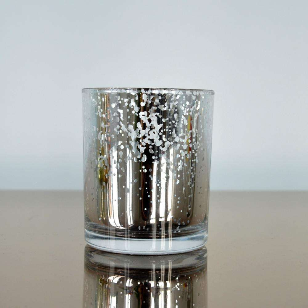 Mercury Glass speckled Votive Candle holders for wedding and parties