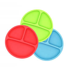 BHD Wholesale Custom Logo FDA Certified BPA free Dishwasher Safe Skidproof Feeding Silicone Grip Dish