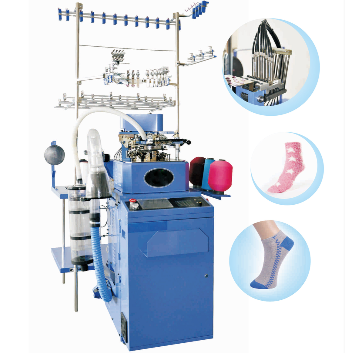 Industrial automatic 4 inch plain & terry sock making machine