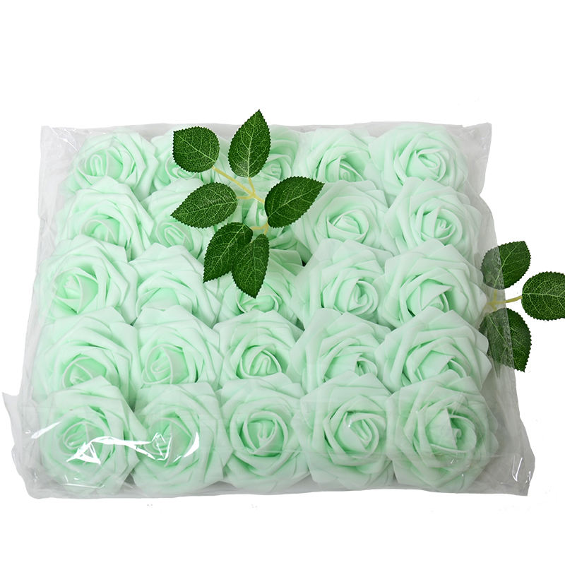 2020 New design 25pcs/bag Artificial Rose Flowers Artificial Foam Roses Handmade DIY Wedding party Decoration