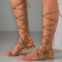 Roman Style Gladiator Lace Up Flat Sandals For women And Ladies