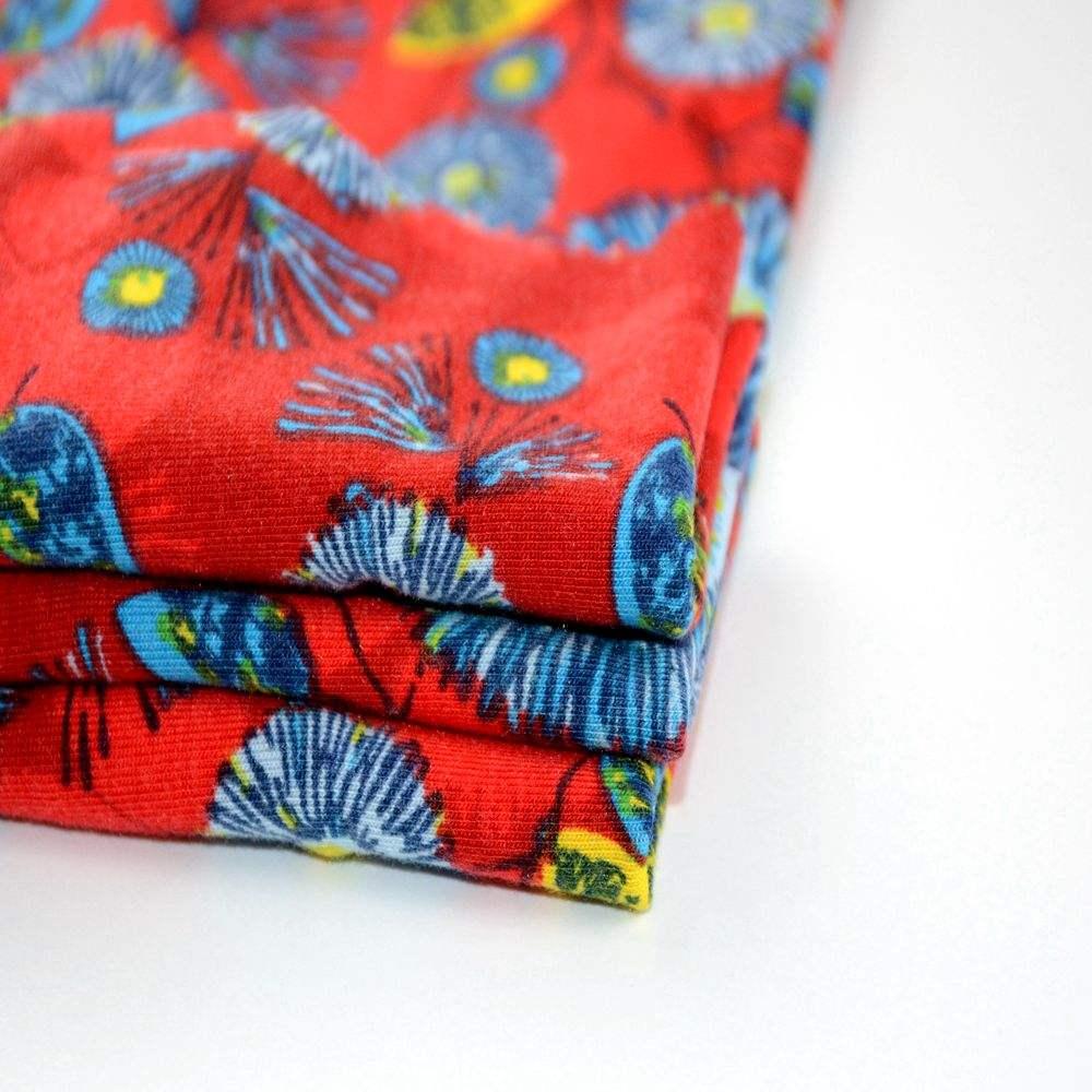 編み固体染めストレッチポリ紡績シングルジャージー生地用タンクトップ