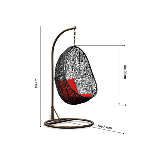 Wholesale cheap outdoor furniture rattan hanging egg chair garden set