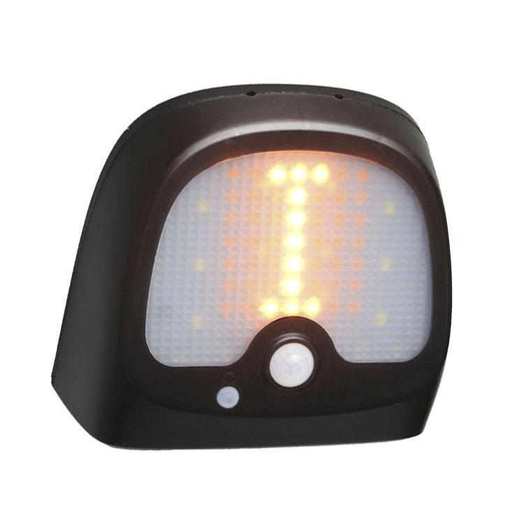 LED Solare Parete Esterna Luce Terrazza decorazione design sole lampada nero-rame