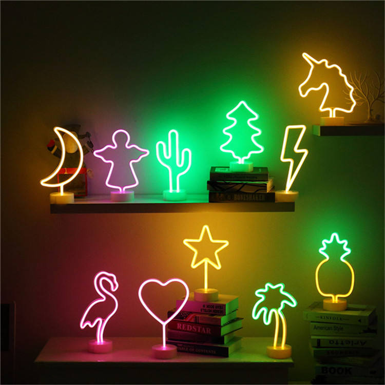 Fashion Battery Powered Neon Light Night Lamp Led Lip Neon Light For Party Decoration