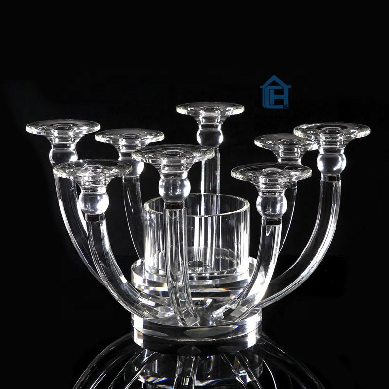 custom 9 arms k9 crystal table candelabra centerpieces wedding favors home goods crystal glass candelabra