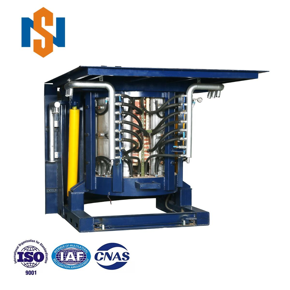 1 To 3 Ton Automated Pouring High-Power Density Heavy Steel Shell Dura-line Furnace
