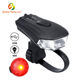 Waterproof Hot Usb Red Rear Rechargeable Led Mountain Front Bike Light