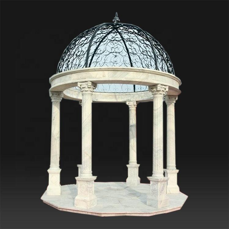 Customized outdoor garden stone large roman gazebo