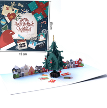 3D Musical Christmas Greeting Cards