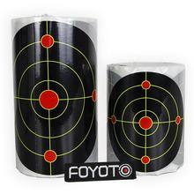 100pcs/roll sputtering Silhouette Splatter burst Target paper Multicolored shooting targets See Your Hits Instantly