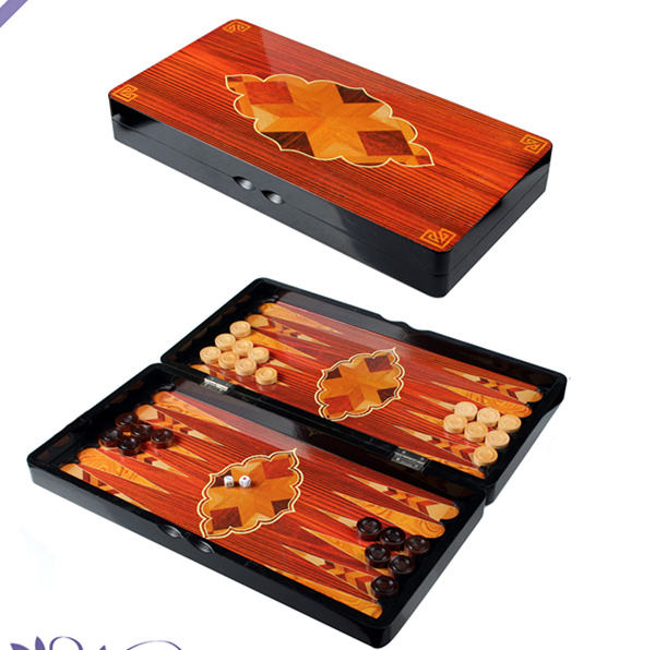 Amazing Wood Backgammon Game Set