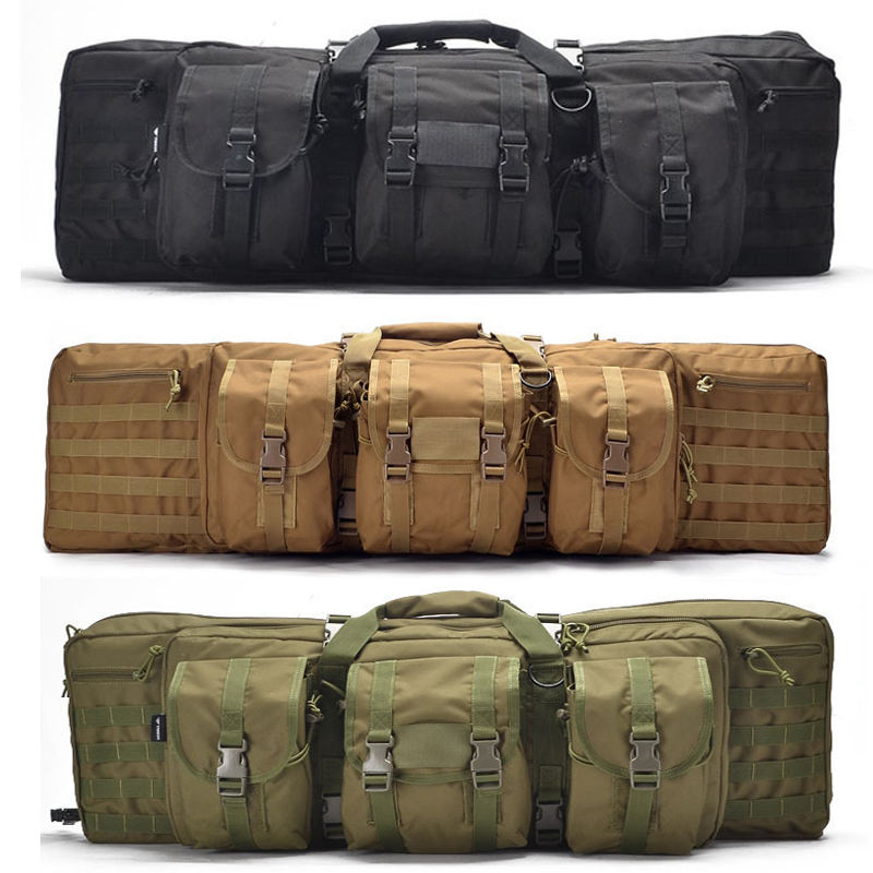 600D Fishing Hunting Rifle Case Military Tactical Backpack Gun Bag