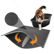 Pet Cat Mat Double-layer Cat Litter Trapper Mats With Waterproof Bottom Layer Easy Cleaning Protect Floor Cat Bed