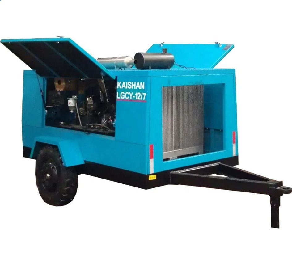 Dynamic 10 Bar Trailer/Skid Mounted Diesel Portable 145 PSI Air Compressor For Mining,Good quality screw air compressor