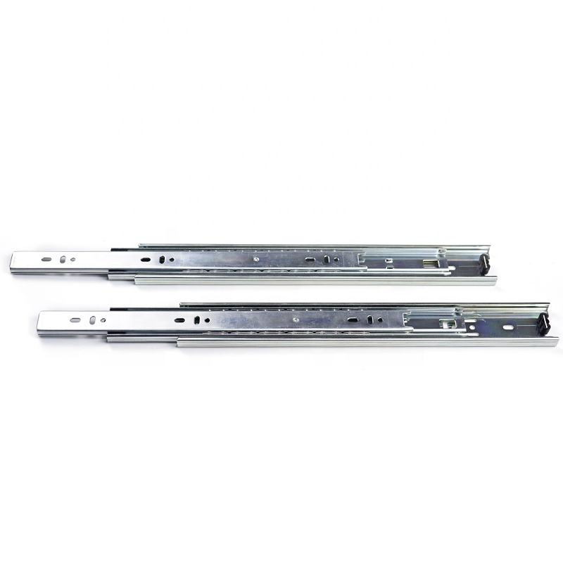 Made in Dongguan, 3 fold kitchen cabinet cold-rolled steel groove ball bearing drawer slide