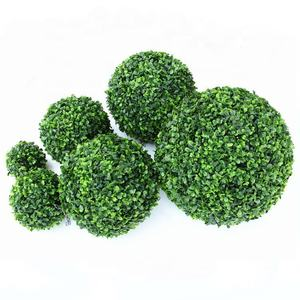 SD-BAF201 Topiary Green Artificial Grass Ball Plastic Plant For Outdoor Indoor Decoration