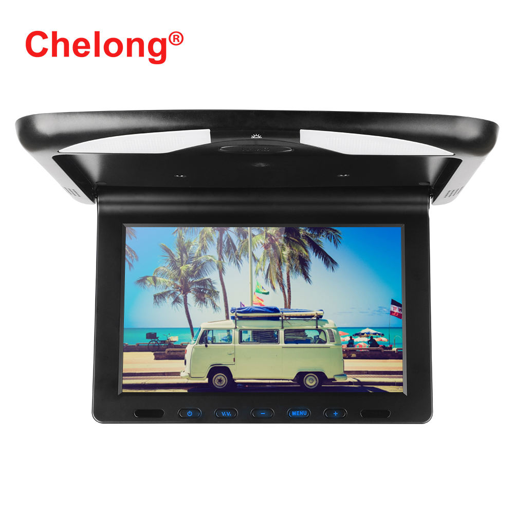 10.1inch Super Thin Flip down car Roof Mount Color LCD monitor with USB SD