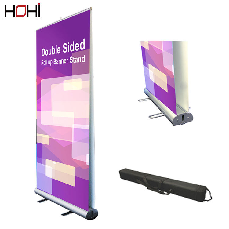 Heavy Duty Stand Flex Vertical Pull Up Banner Stands 80x200 display for advertising Moving Roll Up Banner