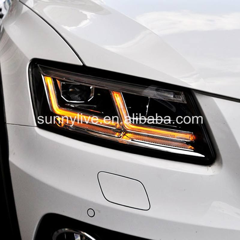 LED Head Light with projector lens For Audi Q5 2009-2018 LD