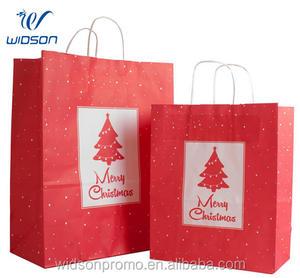 الزخرفية مصنع الأحمر الزفاف هدية كيس ورق الكرافت
