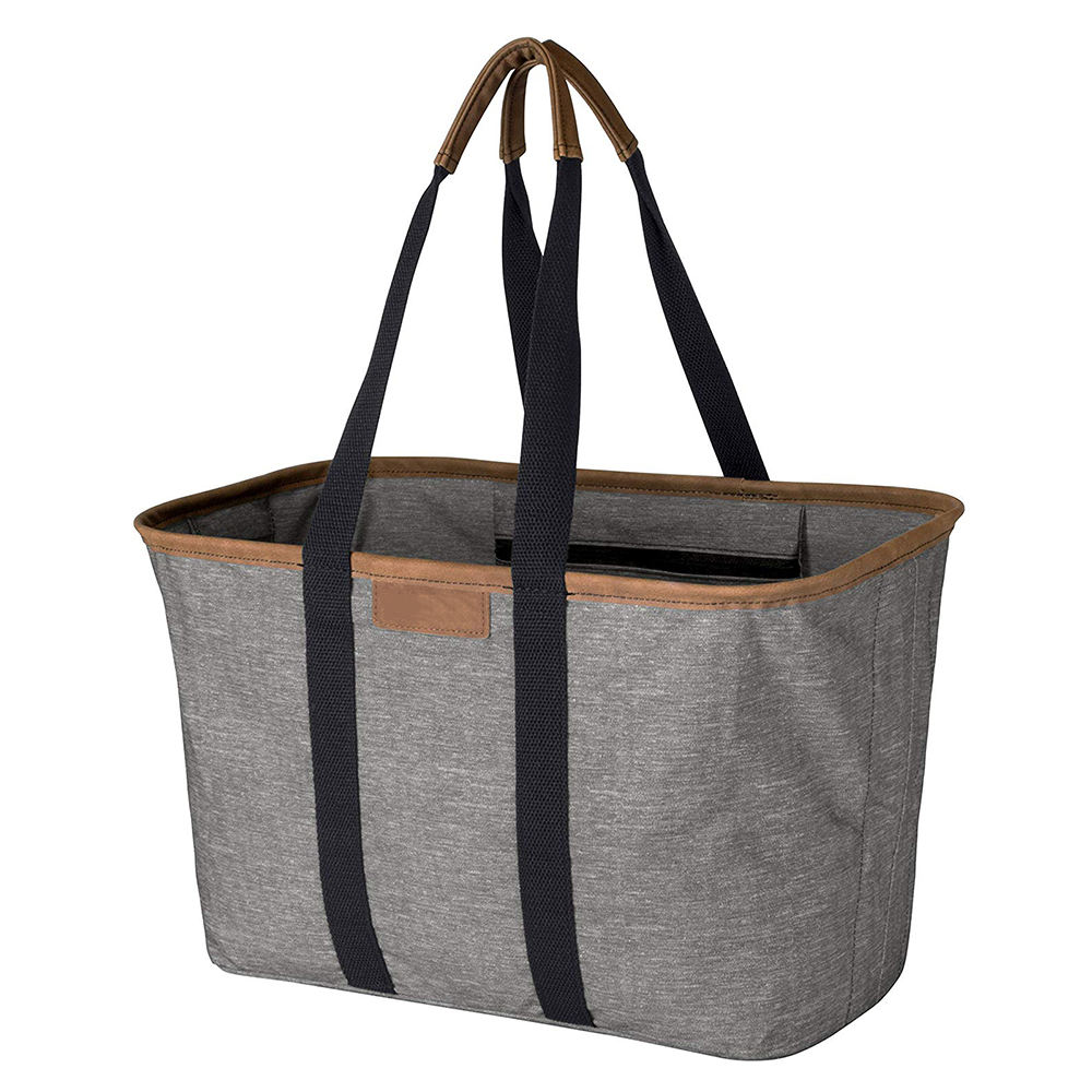 Durable Waterproof Cotton Shopping Tote Snap Basket Reusable collapsible Grocery Bag For Man Woman Picnic,Shopping