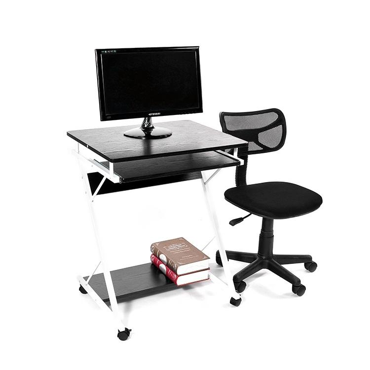 Cheap and Movable Computer Desk Computer Table with wheels for PC Home School Use