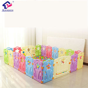Indoor outdoor 8 Panel Safety Plastic Baby Playpen with toy and door