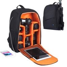 PULUZ New Products Outdoor Portable Waterproof Scratch-proof Dual Shoulders Camera Bag for Travel