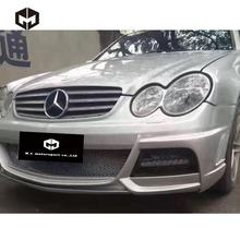 Fiberglass Front Rear Bumper Side Skirts LED fogLights Wald WD Style Body kit for Mercedes Benz CLK-CLASS W209 CLK63 AMG