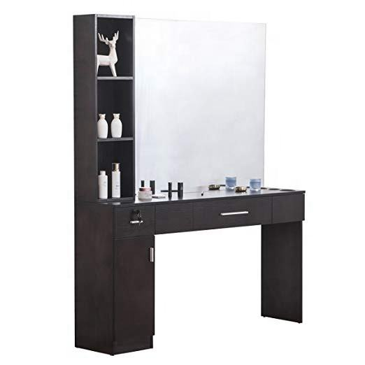 SG-LL112 Barber Salon Station Makeup Wall Mount Hair Styling Beauty Spa Equipment Set with Mirror