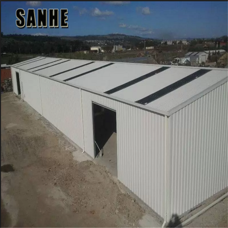 prefabricated insulated portal light steel cn warehouse / agricultural barns warehouse prices