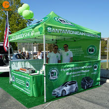 Portable trade show tent 10x10 custom graphics printed exhibition canopy tent for advertising