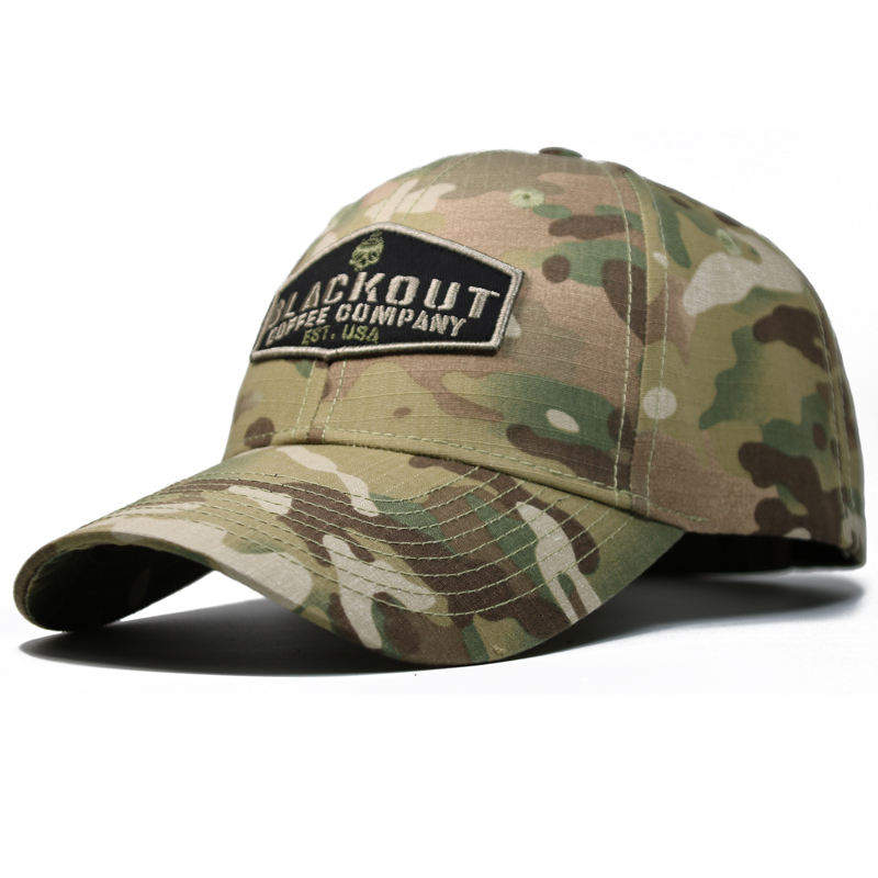 Custom High Quality Embroidery Camo Baseball Hat