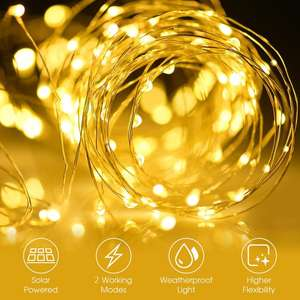 8 model 300 lights solar string light copper wire outdoor solar landscape lights fairy Christmas light decoration holiday light