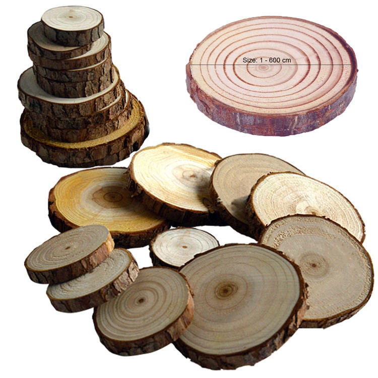 Custom unfinished wooden slices discs for board games Crafts