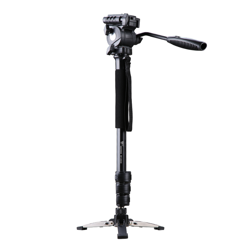 WF-3958M monopod with camera head and support leg