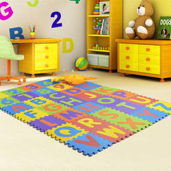 Multicolor EVA Alphabet Puzzle Foam Mat For Baby
