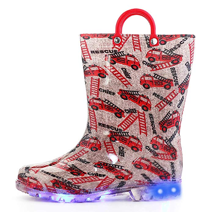 China Factory Latest Arrival High Quality Jelly Popular Bling Unisex Led Light Kids PVC Rain Boots
