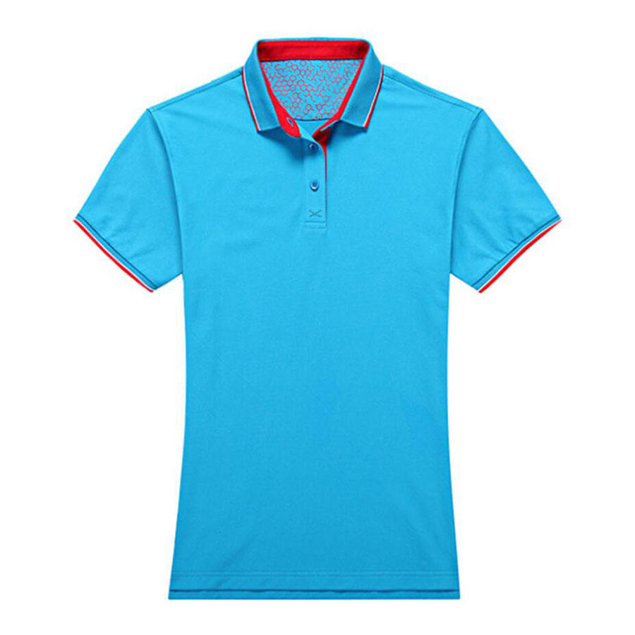 100% polyester pique two tone design school uniform polo shirt flatlock steken polo