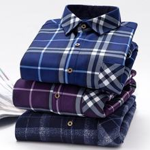 Wholesale Winter Check Men's Thick Flannel Shirt