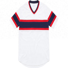 Custom sublimation V-neck Striped baseball jersey uniform Design
