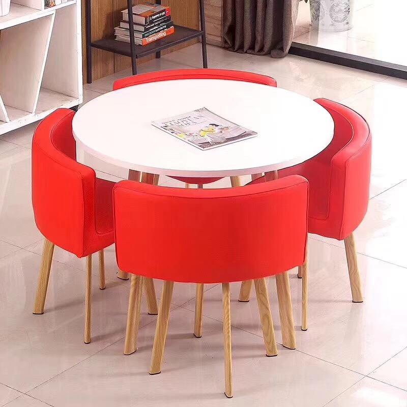 european style kitchen furniture tempered glass table round glass dining table