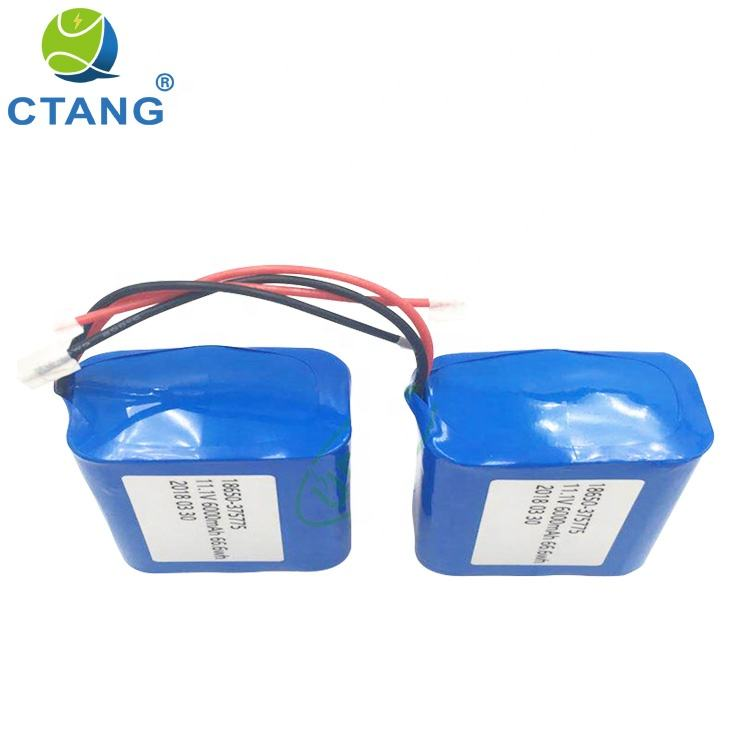 Shenzhen Factory Customized Safe Reliable Batteries 11.1V 12V 6000mAh Li-ion 18650 Battery Pack