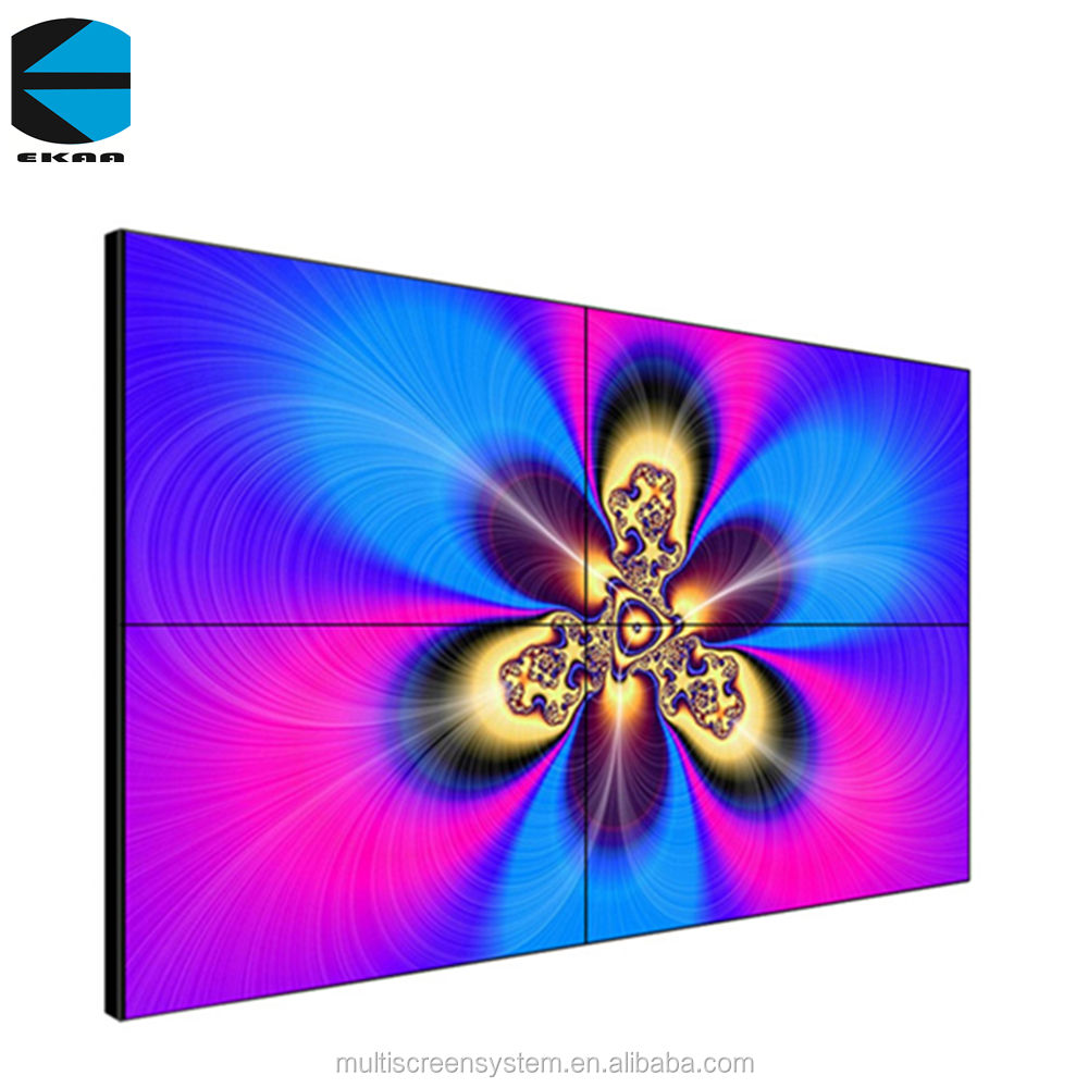 EKAA 55 inch lcd video muur 3.5mm smalle bezel digital signage splicing muur led screen tv voor reclame
