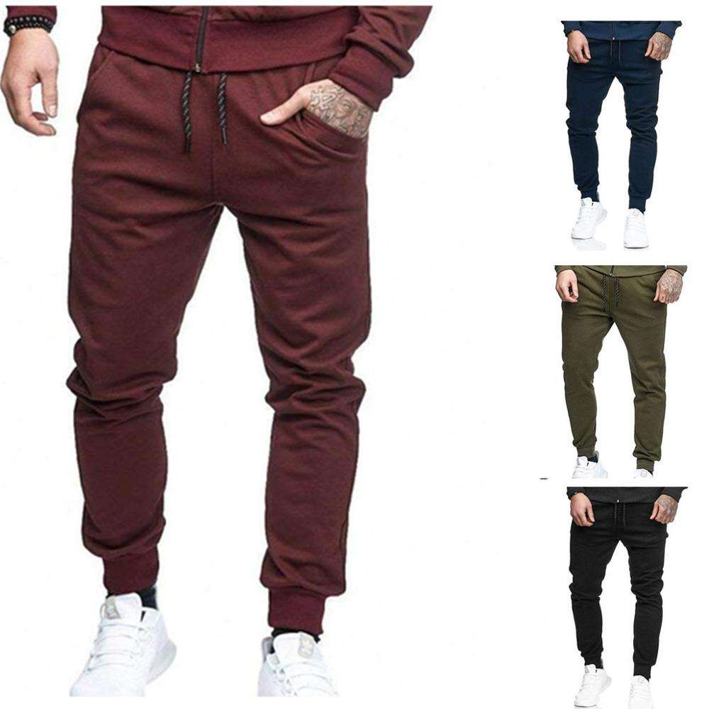 Wholesale sport clothing custom men gym track blank jogger sweat pants