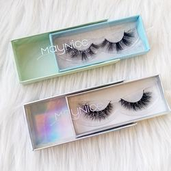 private label 3d mink lashes box and  Custom 25mm  Eyelash package empty  PVC packing box