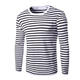 Design Mens And Womens Striped T-Shirt Oversize Cotton Sailors Striped Shirt Long Sleeve Unisex T Shirt Wholesale