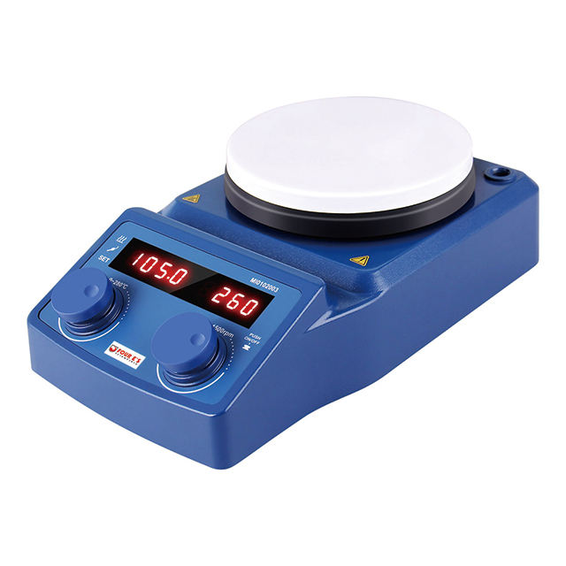 Cheap LED digital 5 inch round ceramic hot plate lab magnetic stirrer
